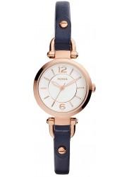 Fossil Women's Georgia Mini White Dial Navy Leather Watch ES4026