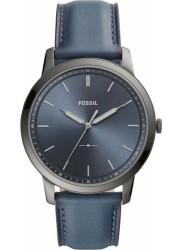 Fossil Men's Minimalist Blue Dial Blue Leather Watch FS5574