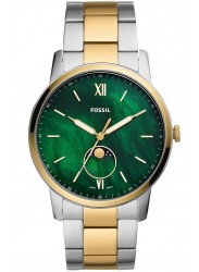Fossil Men's Minimalist Moonphase Green Mother of Pearl Dial Two-Tone Stainless Steel Watch FS5572