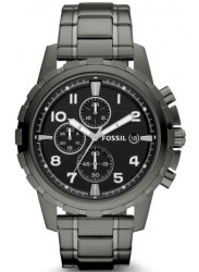 Fossil Men's Dean Chronograph Smoke Stainless Steel Watch FS4721