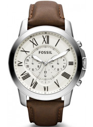 Fossil Men's Grant Brown Leather Watch FS4735