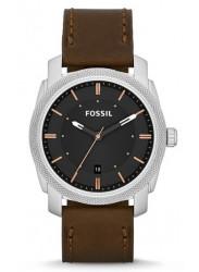 Fossil Men's Machine FS4860 Brown Leather Analog Quartz Watch