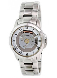 Fossil Unisex Grant Skeleton Dial Stainless Steel Watch FS4871