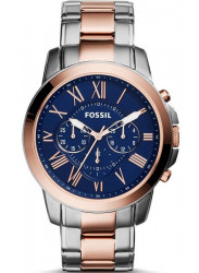 Fossil Men's Grant Chronograph Two Tone Watch FS5024