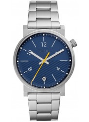 Fossil Men's Barstow Blue Dial Stainless Steel Watch FS5509