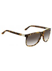 Gucci Unisex Oversized Full Rim Havana Sunglasses GG 1002/S VDI/JS