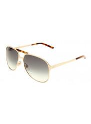 Gucci Unisex Aviator Full Rim Gold Tone Sunglasses GG 2206/S J5G/44