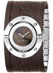 Gucci Women's Twirl Collection Brown Dial Brown Rubber Watch YA112421