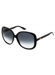 Gucci Women's Oversized Full Rim Dark Blue Sunglasses GG 3167/S 913/JJ