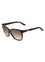 Gucci Women's Full Rim Wayfarer Dark Havana Sunglasses GG 3539/S GAZ/HA