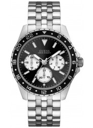 Guess Men's Chronograph Black Dial Stainless Steel Watch W1107G1