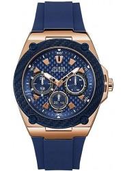 Guess Men's Legacy Chronograph Blue Dial Blue Rubber Watch W1049G2