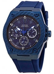 Guess Men's Legacy Chronograph Blue Dial Blue Rubber Watch W1049G7