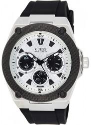 Guess Men's Legacy Chronograph White Dial Black Rubber Watch W1049G3