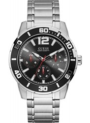 Guess Men's Trek Chronograph Black Dial Stainless Steel Watch W1249G1