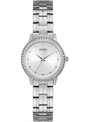 Guess Women's Chelsea Silver Dial Stainless Steel Watch W1209L1