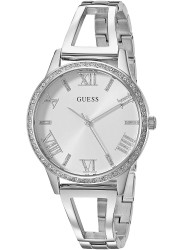 Guess Women's Lucy Silver Dial Stainless Steel Watch W1208L1