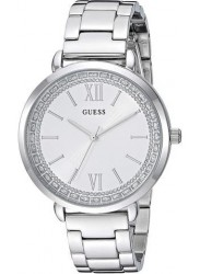 Guess Women's Posh White Dial Stainless Steel Watch W1231L1