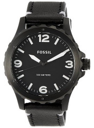 Fossil Men's Nate Black Leather Watch JR1448