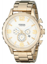 Fossil Men's Nate Chronograph Gold Tone Watch JR1479