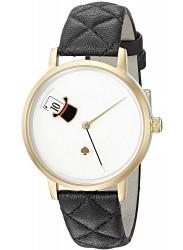 Kate Spade New York Women's Metro White Dial Black Leather Watch KSW1214