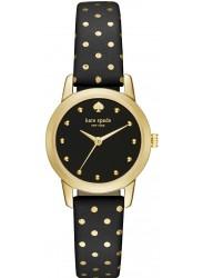 Kate Spade Women's Mini Metro Black Dial Polka Dot Leather Watch 1YRU0890