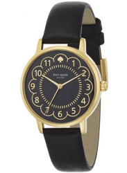 Kate Spade Women's Metro Black Dial 12kt Gold-plated Leather Watch 1YRU0790