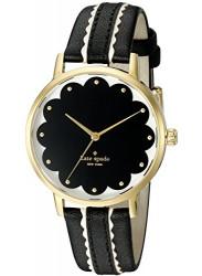Kate Spade Women's New York Black Leather Watch KSW1001