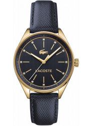 Lacoste Women's Philadelphia Blue Dial Blue Leather Watch 2000933