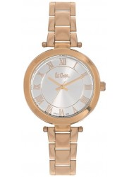 Lee Cooper Women's Silver Dial Rose Gold Stainless Steel Watch LC06332.430
