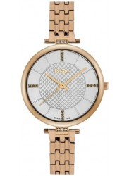Lee Cooper Women's White Dial Rose Gold Stainless Steel Watch LC06464.430