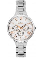 Lee Cooper Women's Chronograph White Dial Stainless Steel Watch LC06466.320