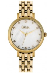 Lee Cooper Women's Mother of Pearl Dial Gold Stainless Steel Watch LC06475.120