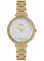 Lee Cooper Women's White Dial Gold Stainless Steel Watch LC06560.120