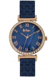 Lee Cooper Women's Blue Mother of Pearl Dial Blue Stainless Steel Watch LC06562.490