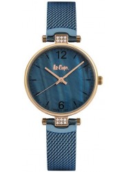 Lee Cooper Women's Blue Mother of Pearl Dial Blue Stainless Steel Watch LC06587.490