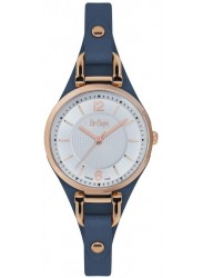 Lee Cooper Women's White Dial Blue Leather Watch LC06610.439