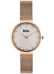 Lee Cooper Women's Mother of Pearl Dial Rose Gold Stainless Steel Watch LC06625.420