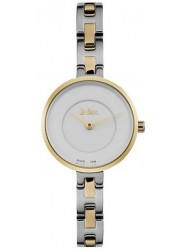 Lee Cooper Women's White Dial Two-Tone Stainless Steel Watch LC06628.230