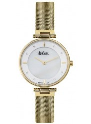 Lee Cooper Women's White Dial Gold Stainless Steel Watch LC06637.120