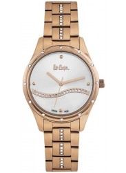 Lee Cooper Women's White Dial Rose Gold Stainless Steel Watch LC06639.430