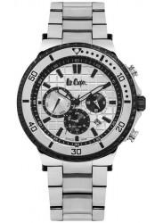 Lee Cooper Men's Chronograph Silver Multi-Function Dial Stainless Steel Watch LC06640.330