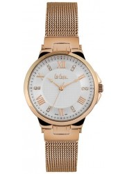 Lee Cooper Women's White Dial Gold Stainless Steel Watch LC06644.430