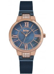 Lee Cooper Women's Blue Mother of Pearl Dial Blue Stainless Steel Watch LC06646.490