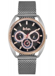 Lee Cooper Men's Chronograph Black Dial Stainless Steel Watch LC06663.550