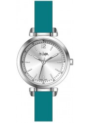 Lee Cooper Women's Silver Dial Turquoise Leather Strap Watch LC06678.338