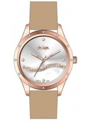 Lee Cooper Women's Mother of Pearl Dial Beige Leather Strap Watch LC06679.435