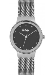 Lee Cooper Women's Black Dial Grey Mesh Stainless Steel Watch LC06472.350