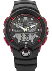 Lee Cooper Men's Originals Digital Black Dial Black Rubber Watch ORG05406.621