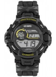 Lee Cooper Men's Originals Digital Black Dial Camo Rubber Watch ORG05601.620
